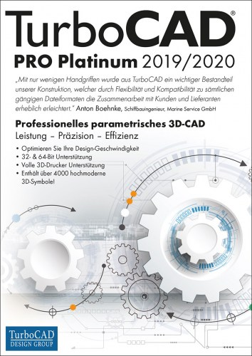 TurboCAD Pro Platinum 2019/2020 Vollversion